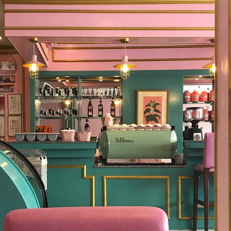 Café Congreso in the Phillipines - inspired by Wes Anderson films