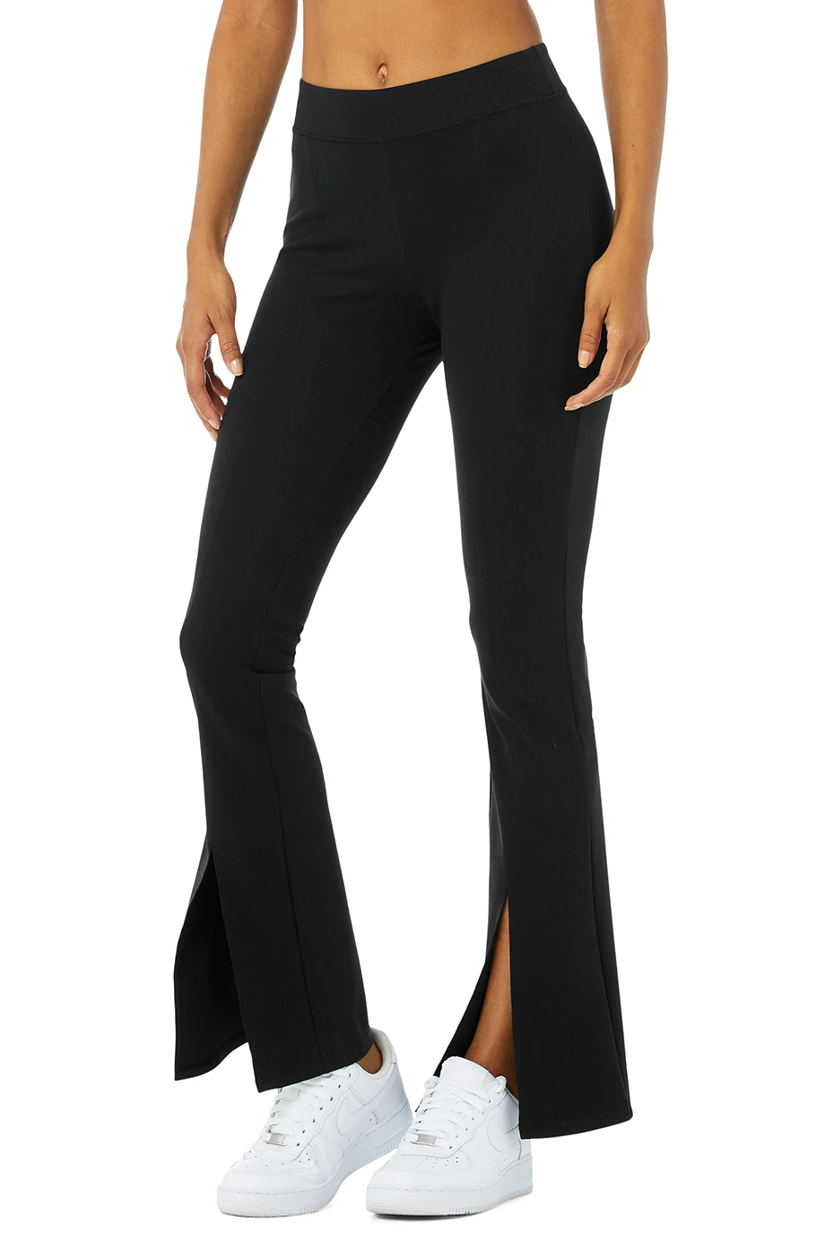 Airbrush High-Waist Flutter Legging - Black